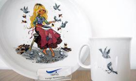 Triptis Kindergeschirr Geschenkset 3-tlg Motiv: Aschenputtel