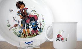Triptis Kindergeschirr Geschenkset 3-tlg Motiv: der gestiefelte Kater