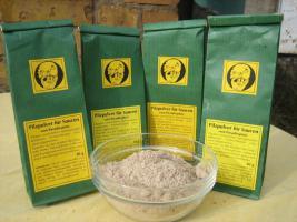 Trocken-Pilzpulver in Rohkostqualität für leckere Pilzsaucen vom Paradiesplatz; ganzjähriger Genuss