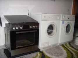Trockner, Waschmaschine, Kühlschrank, Backofen