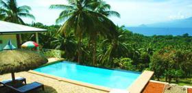 Tropisches anwesen