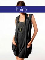 Two-in-One-Longshirt-Minikleid schwarz - Größe 38 - Neu & OVP