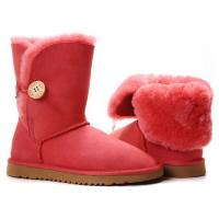 Foto 2 UGG Australien Damen Stiefel Bailey Button Boots Red Schuhe