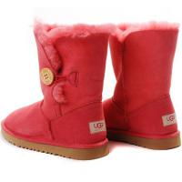 Foto 3 UGG Australien Damen Stiefel Bailey Button Boots Red Schuhe