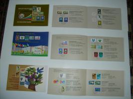 UN-Genf Gedenk-Folder-Faltblätte mit Markenausgaben des Jahres