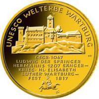 Foto 2 UNESCO Weltkulturerbe Wartburg 100 Euro Goldmünze
