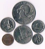 Foto 2 USA 6 Münzen im Etui mit Zertifikat !