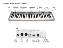 Foto 2 USB MIDI Keyboard M-Audio Radium 61. WIE NEU!!!