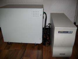 Foto 2 USV Effekta Stromversorgung mit Akkumulator Bank B20 und 8 Akku