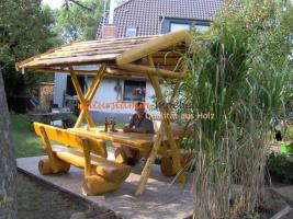 berdachte gartenbank i0404 in m nchhagen kiefer holz. Black Bedroom Furniture Sets. Home Design Ideas