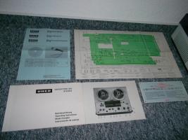 Foto 8 Uher 263 Variocord Tonbandgerät 2 Kanal 4 Spur Stereo + Anleitung + Garantiekarte 70er Jahre RAR!!