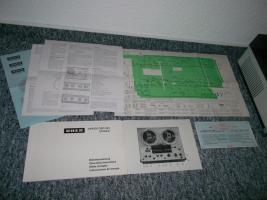 Foto 9 Uher 263 Variocord Tonbandgerät 2 Kanal 4 Spur Stereo + Anleitung + Garantiekarte 70er Jahre RAR!!