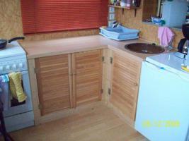Foto 2 Umbauter Wohnwagen mit eigenem Steg