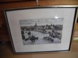 Unbekannte(r) Maler(in), Schrift unlesbar;man sieht eine Stadt;Bild