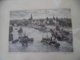 Foto 6 Unbekannte(r) Maler(in), Schrift unlesbar;man sieht eine Stadt;Bild