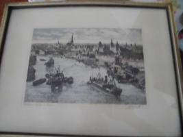 Foto 8 Unbekannte(r) Maler(in), Schrift unlesbar;man sieht eine Stadt;Bild