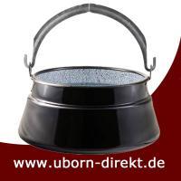 Ungarische Fischsuppe Kessel oder Fischkessel emailliert 8 Liter