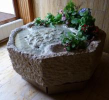 Unikat, Handgefertigter Brunnen, Jurastein, für Foyer od. Draußen
