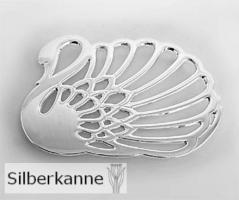 Untersetzer Schwan 16x22 cm, versilbert / SILBER plated