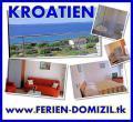 Urlaub KROATIEN Ferienwohnung Kozino strandnah Meerblick