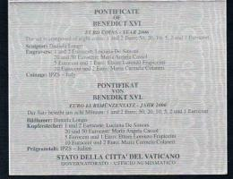 Foto 3 VATIKAN PONTIFICATE OF BENEDIKT XVI. Original Amtlicher Euro Kursmünzensatz 2006 !!!nsatz