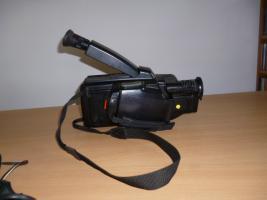 Foto 2 VHS-VIDEO-Kamera komplett mit allem Zubehör