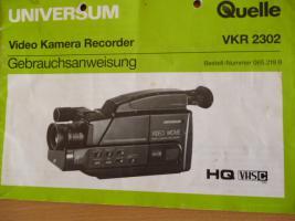 Foto 4 VHS-VIDEO-Kamera komplett mit allem Zubehör