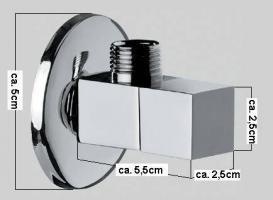 VON ADELBERG - Design Eckventil Quadro (VA9201) - OVP - NEU