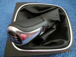 Foto 5 -VW Golf V-VI, REX, Jetta 4, Scirocco, Eos, Polo, Tiguan... SPORT GTI/GTD Alu Schaltknauf mit Ledermanschette