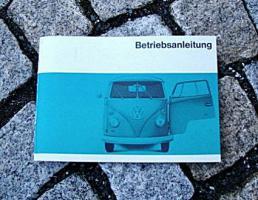 VW Transporter / Bus Betriebsanleitung 1966 T1