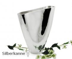 Vase Amara H 30 cm, versilbert / SILBER plated