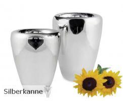 Vase Tasa H 20 cm, versilbert / SILBER plated