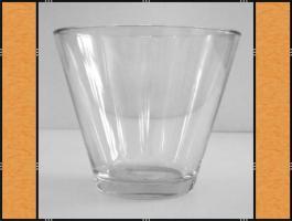 Vase, Pflanzgefäß, Windlicht, Glasgefäß – konisch (18 x 15)