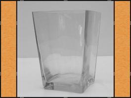 Vase, Pflanzgefäß, Windlicht, Glasgefäß - eckig (11 x 16)