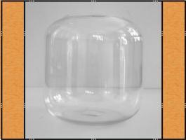 Foto 2 Vase, Pflanzgefäß, Windlicht, Glasgefäß - mit eingezogenem Rand