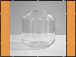 Foto 3 Vase, Pflanzgefäß, Windlicht, Glasgefäß - mit eingezogenem Rand