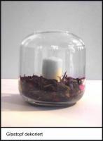 Foto 5 Vase, Pflanzgefäß, Windlicht, Glasgefäß - mit eingezogenem Rand