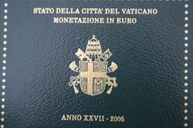 Vatikan Kursmünzensatz 2005 (Papst Paul II.) nur 199 EUR + Porto
