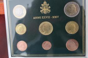 Foto 3 Vatikan Kursmünzensatz 2005 (Papst Paul II.) nur 199 EUR + Porto