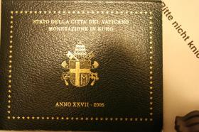 Vatikan Kursmünzensatz 2005 + 2006 ab 125 EUR