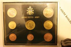 Foto 2 Vatikan Kursmünzensatz 2005 + 2006 ab 125 EUR