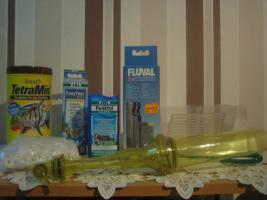 Foto 2 Verkaufe 160l Aquarium mit kompletten Besatz + Unterschrank