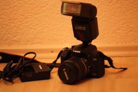 Verkaufe Canon Eos 1000 D und Zubehör