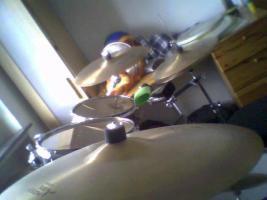 Foto 4 Verkaufe Komplettschlagzeug Yamaha Stage Custom + Beckenset