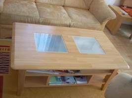 Foto 2 Verkaufe Mikrofaser Couch (+ 2 Couchsessel + Tisch)