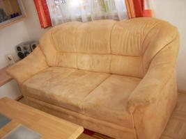 Foto 3 Verkaufe Mikrofaser Couch (+ 2 Couchsessel + Tisch)