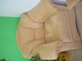 Foto 4 Verkaufe Mikrofaser Couch (+ 2 Couchsessel + Tisch)