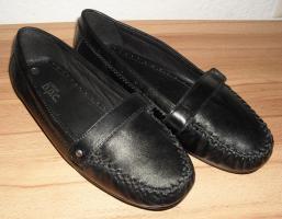 Verkaufe NEUE Mokassins - Gr. 42 - schwarz - Echt Leder