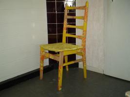 Foto 2 Verkaufe bemalte oder beklebte Stühle, Schränke Tische