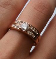 Foto 2 Verkaufe neuen Swarovski 18K Gelbgold Ring mit Kristallen